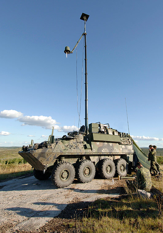 Bison Mobile Electrionic Warfare Team Vehicle and Mast